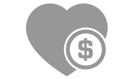 donation icon with heart