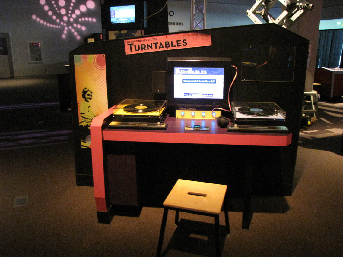 Turntables interactive exhibit