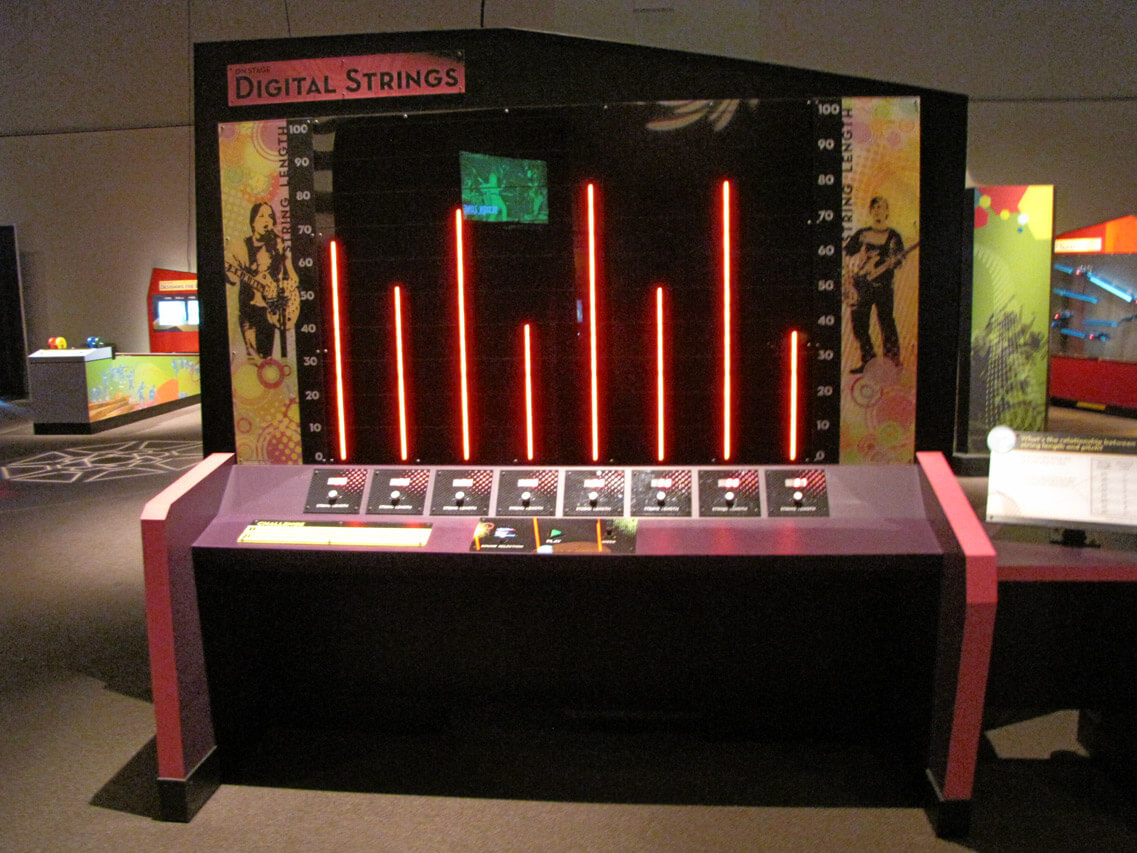 Digital Strings interactive exhibit