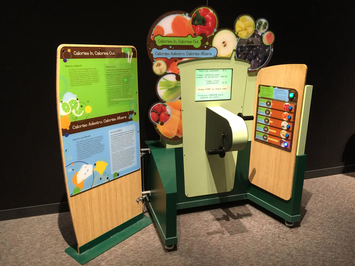 Calories In, Calories Out interactive exhibit