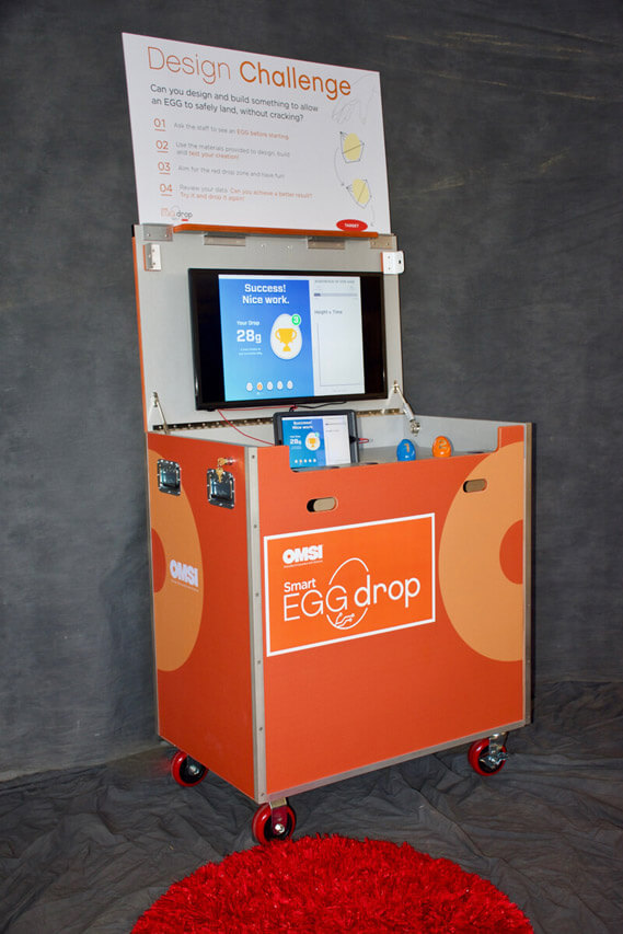 OMSI Smart Egg Drop cart