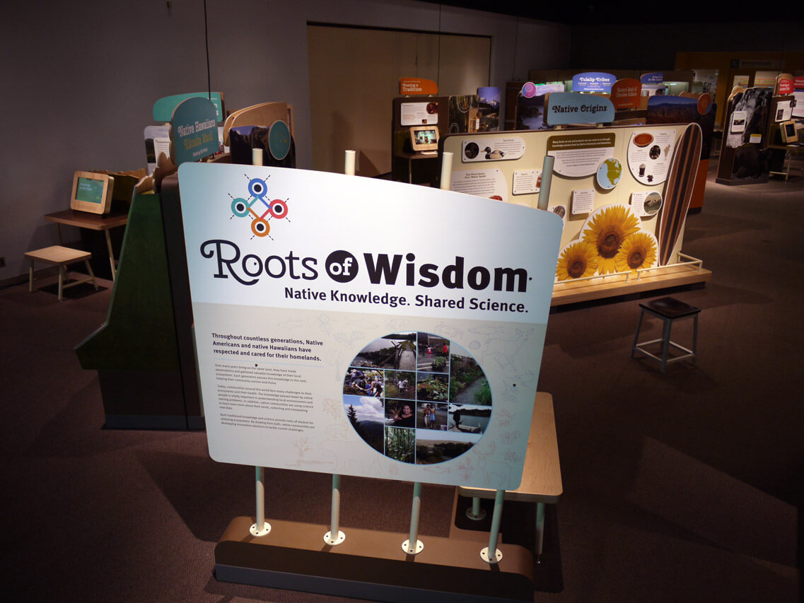 Roots of Wisdom introductory display