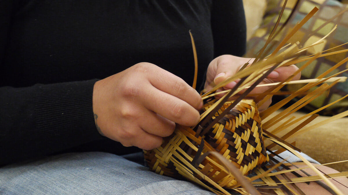Cherokee basket weaving