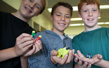Student directors show off claymation figures
