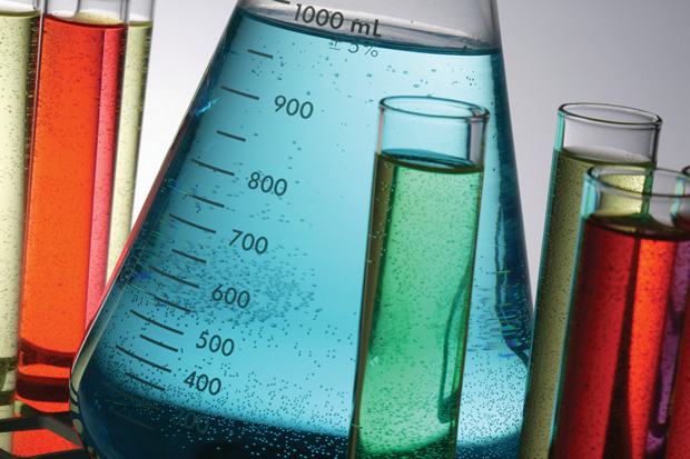 Chemistry flasks and beakers