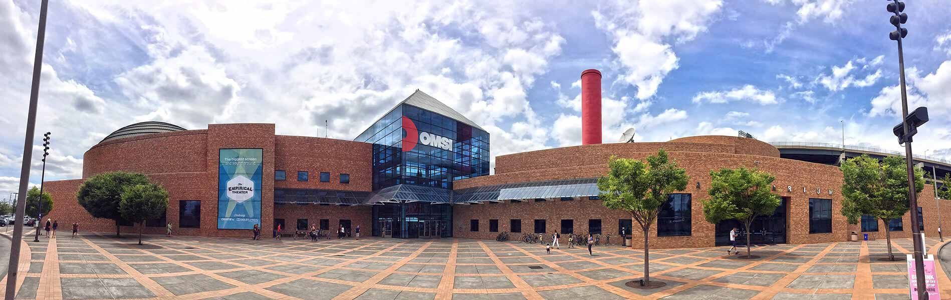 OMSI building and front plaza