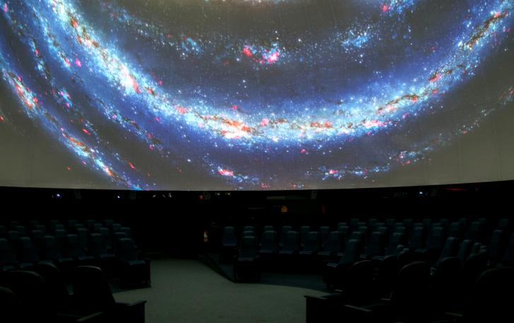 Planetarium with galaxy on dome