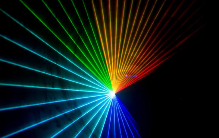 Photo of laser rainbow