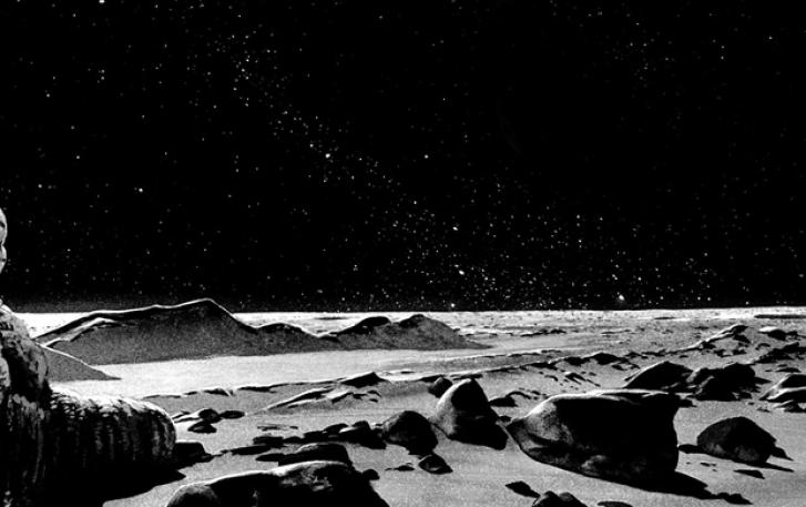 Artist image of lunar surface