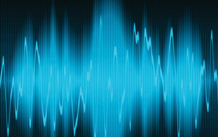 Computer image of sound waves