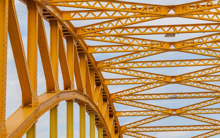 Yellow bridge frame