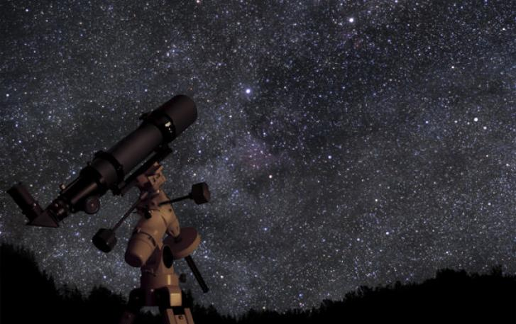 Telescope with starfield