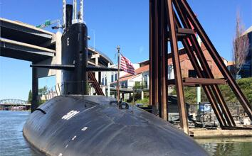 USS Blueback submarine at OMSI